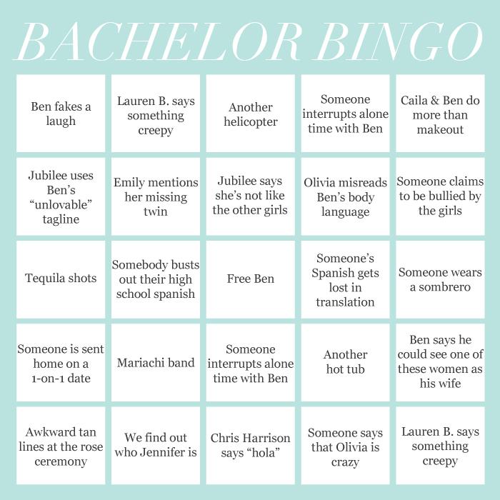Bachelor Bingo